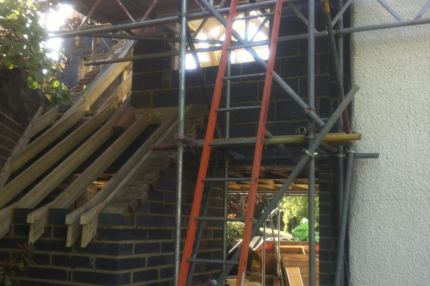 Construction of Haddenham Cottage listed building conversion